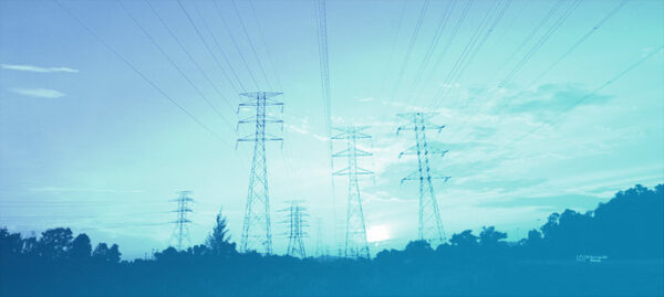 Electricity logistics, with blue overlay