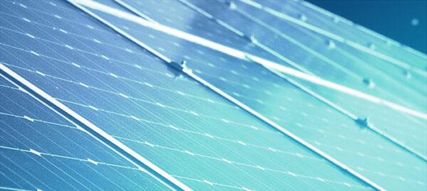 Solar Installation, with blue overlay